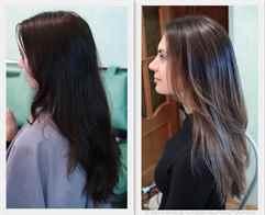 Тонирование на черные волосы фото