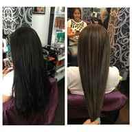 Тонирование мелированных волос в темный цвет