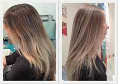 Мелирование русых волос фото до и после