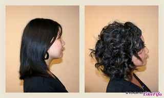 Легкая химическая завивка на средние волосы фото до и после