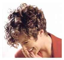 Крупная химия на короткие волосы