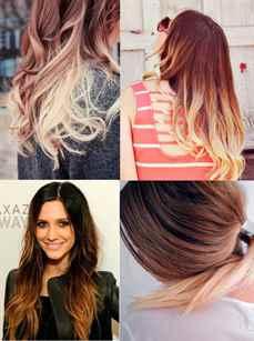 Переход цвета на волосах в домашних условиях