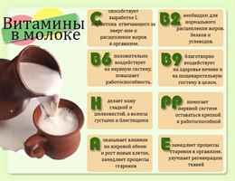 Какие витамины есть в молоке