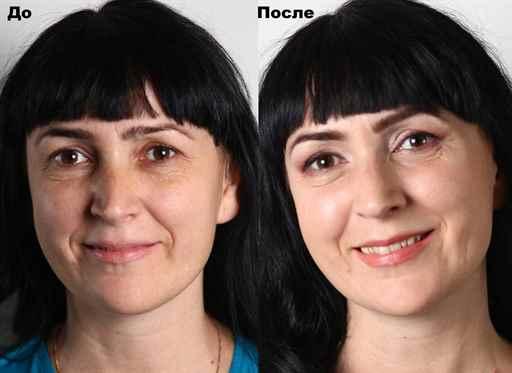 Возрастной макияж опущенных век