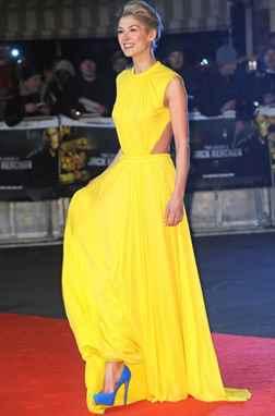 Желтое платье какие туфли