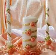 Как украсить свечи на свадьбу