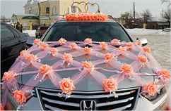 Оформление машин на свадьбы фото своими руками