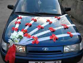 Мастер класс украшение для свадебной машины своими руками