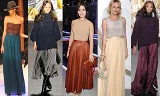 С чем носят длинные шелковые юбки