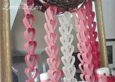 Как сделать ленты из сердечек