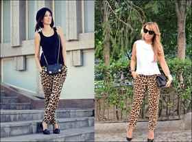 Что носят с леопардовыми лосинами