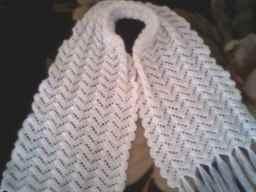 Вязание изделия из шарфа