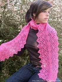 вязаный шарф спицами из тонкой пряжи