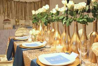 Украшения зала на золотую свадьбу 25