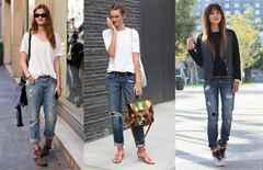 Что одеть с джинсами бойфренды