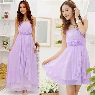 Сиреневое летнее платье