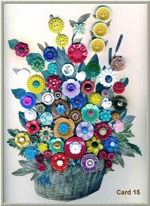 Картины цветов из пуговиц своими руками