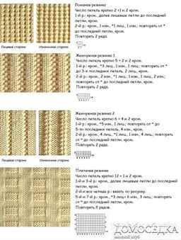 Вязание резинки все виды схемы