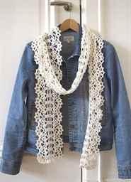 вяжем крючком ажурные шарфы схемы