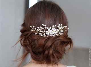 Украшения в волосы для невест своими руками