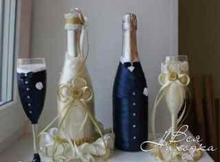 champagner flasche deko