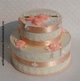 Коробка в виде торта
