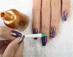 Как нарисовать рисунок на ногтях в домашних условиях иголкой фото