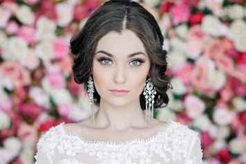 Макияж для невесты с голубыми глазами фото
