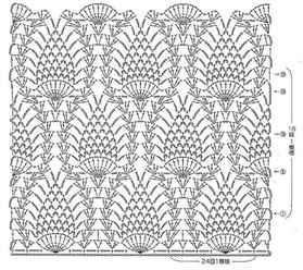 Вязание крючком узор схем и узор ананас