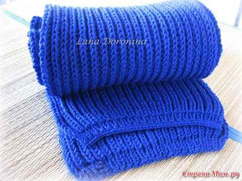 Вязание всем шарфа английской резинкой