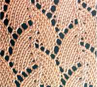 Узоры спицами ажурные для вязания палантинов и шалей