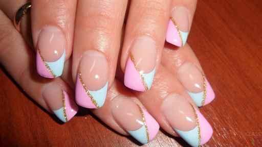 Фото нарощенных ногтей кружево 24
