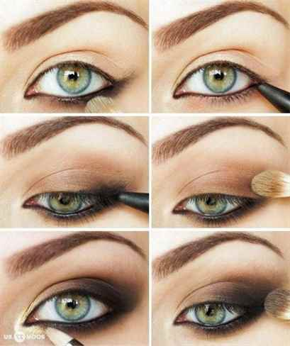 Макияж зелёных глаз