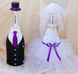 Как украсить свадебную бутылку шампанского своими руками фото 104