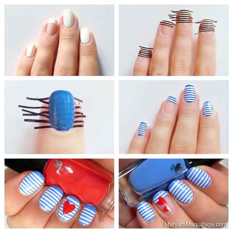 Фото красивого маникюра гель лаком на коротких ногтях фото пошагово