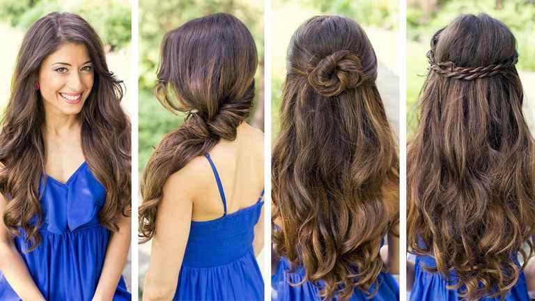 Прически на средние волосы с распущенными волосами