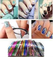 Дизайн ногтей с лентой для дизайна фото пошагово