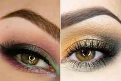 Макияж для каре зеленых глаз брюнеток