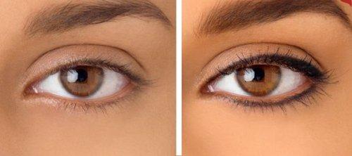 Татуаж стрелок на глазах до и после