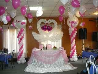 Украшения воздушными шарами свадеб фото