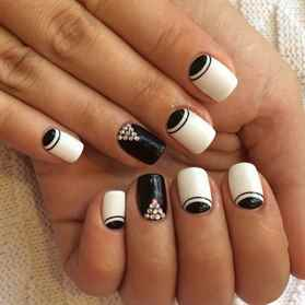 Черно белый дизайн ногтей 2017-2018 новинки