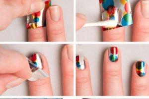 Фольга переводная для ногтей как пользоваться