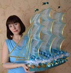 Подарки с конфетами своими руками корабль фото 673