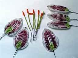Схема французского плетения бисера