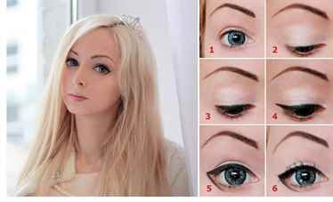 Как зрительно поднять глаз с помощью макияжа