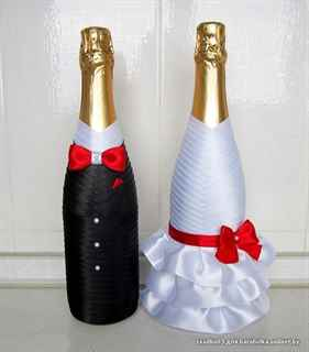 Свадебное шампанское сделать свои руками