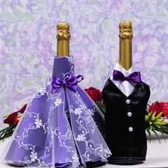 Как сделать своими руками на свадьбу бутылки с шампанским