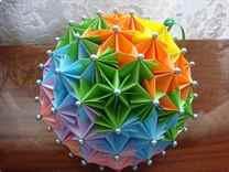 Шар своими руками в технике оригами или канзаши, из ниток или пластиковых стаканчиков, фото и видео