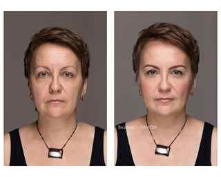 Возрастной макияж для нависшего века