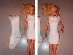 Быстро сшить платье для барби своими руками 6